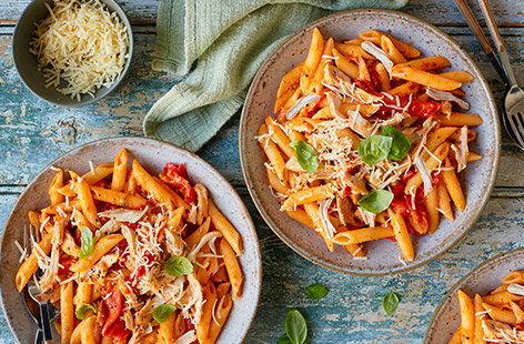 For easy family dinners or speedy lunches, check out our chicken pasta recipes that everyone will love.