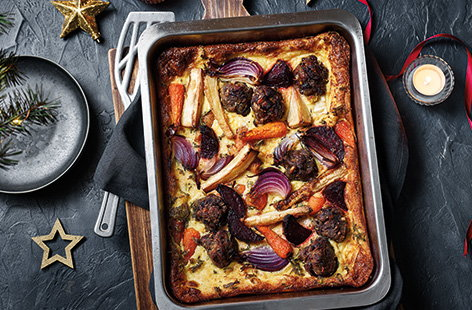 Roasted veg toad-in-the-hole