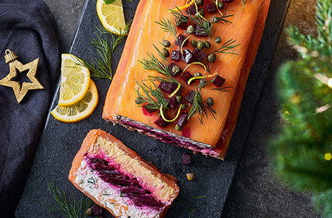 Take the stress out of festive prep with this delicious smoked salmon terrine that you can make well ahead of time