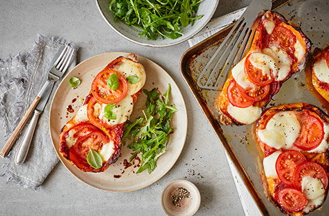 Pizza baked squash