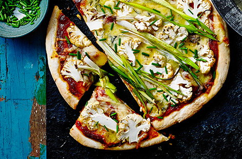 A versatile brassica that can be roasted, fried or steamed, leaves and all; the humble cauliflower shines in this simple pizza recipe