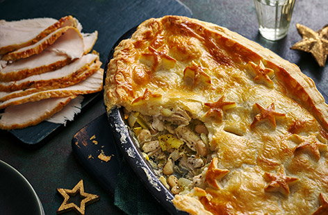 This hearty pie is packed with leftover turkey and chunky cannellini beans