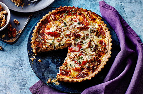 Combined with prosciutto, mushroom and a boatload of Parmesan, walnuts add tangy, earthy notes to this already-rich and savoury tart