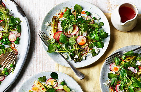 This springtime salad is great as a simple starter or a perfect side for lamb