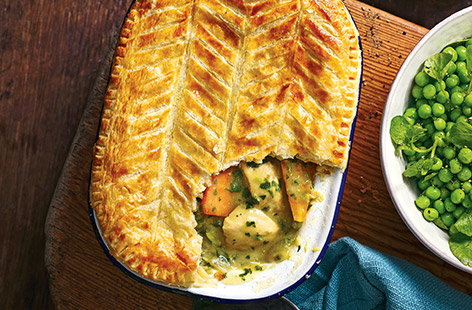 This take on a classic pub pie is just the right mix of fresh and indulgent