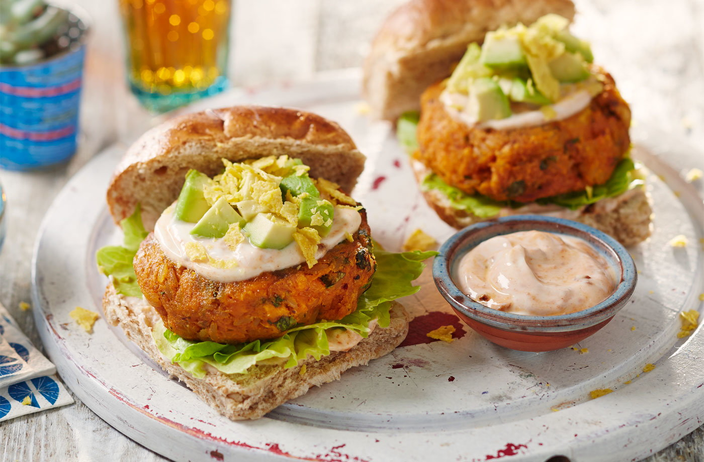 Mexican Sweet Potato Burgers