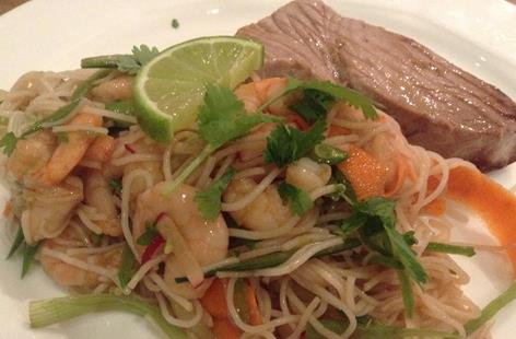 Tuna Steak with Asian Noodle Salad