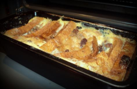 Quick and easy gluten free bread and butter pudding