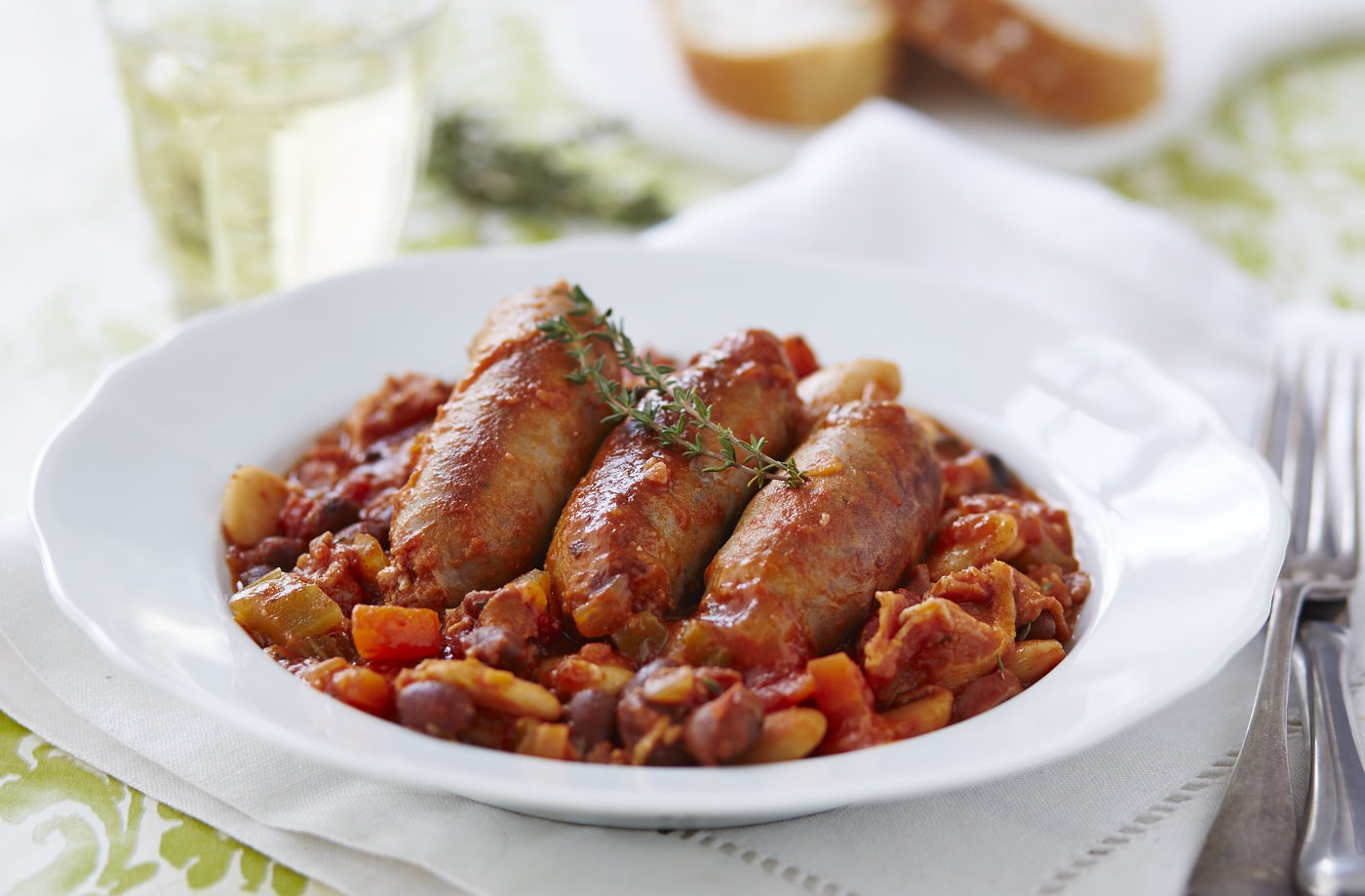 Sausage cassoulet recipe