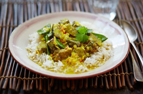 Leftover beef rendang curry