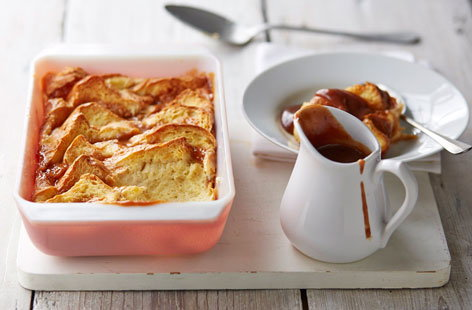 Sticky toffee bread and butter pudding