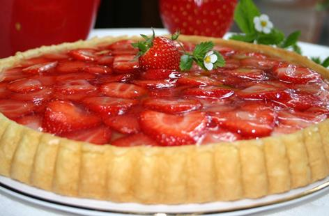 Strawberry Summer Flan