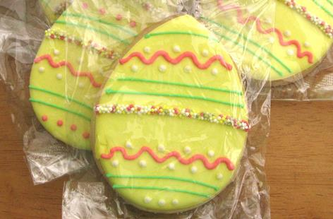 Decorated easter egg biscuits