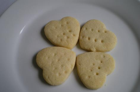 Heart Shape Almond Shortbread