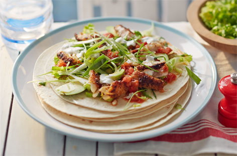 Cajun-spiced fish tacos