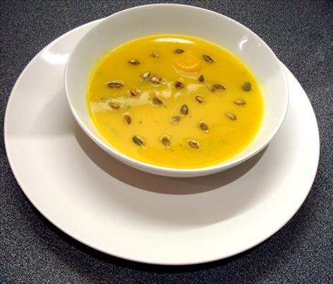 Pumpkin and ginger soup