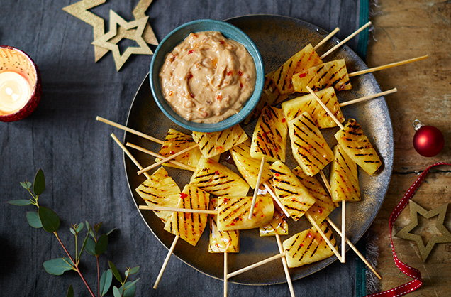 Pineapple satay skewers