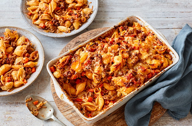 Friday: Bolognese pasta bake