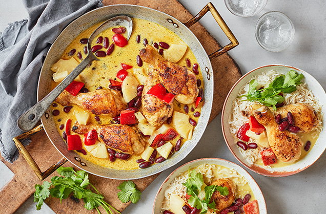 Friday: Caribbean-inspired chicken curry