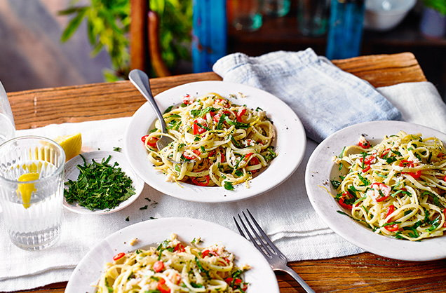 Thursday: Crab linguine