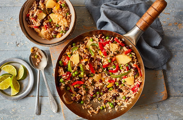Monday: Jerk-inspired pineapple rice