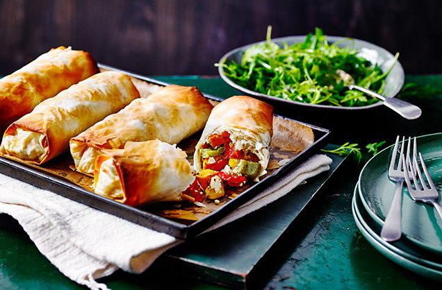Wednesday: Cheesy vegetable strudels