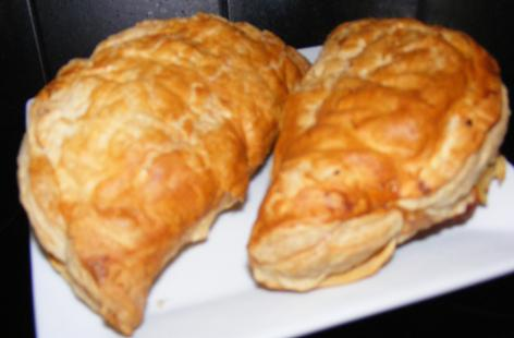 Cheese and bacon pasties