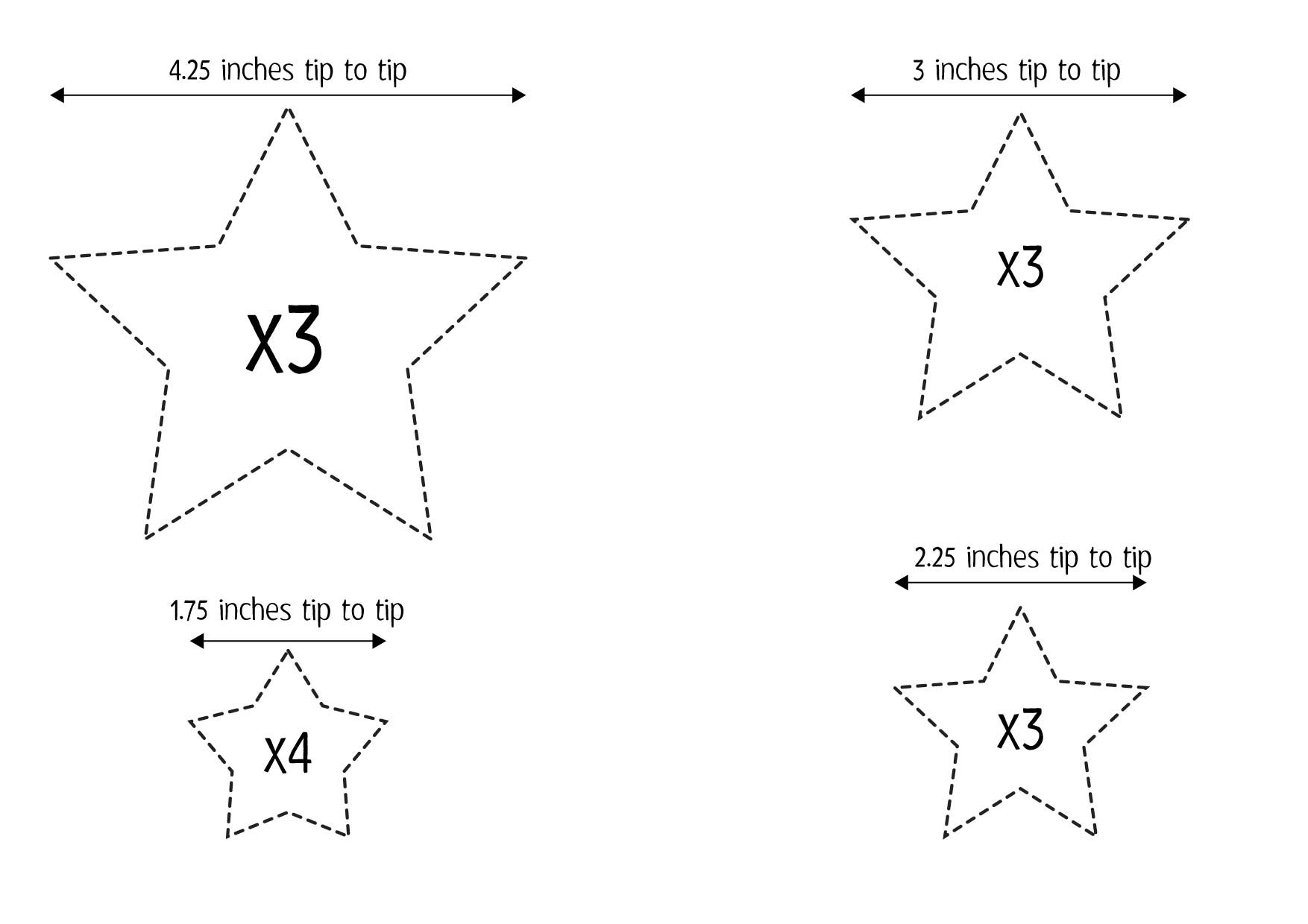 Christmas Tree Star Template Diy 3d Christmas Tree And Star Pattern