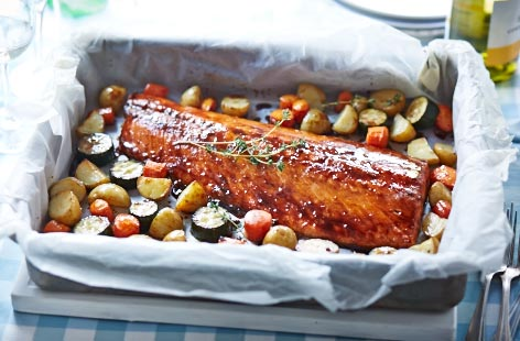 Maple glazed roast salmon tesco real food ccuart Choice Image