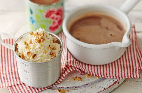 Easy to make by the fire, you will need a saucepan with a trivet, a spoon for the Nutella and a whisk, plus some mugs to pour the hot chocolate into. If you like a chocolate-y flavour use dark chocolate, or milk chocolate for a slightly sweeter result.