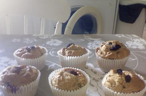 no butter healthy wholegrain and sultana spelt muffins