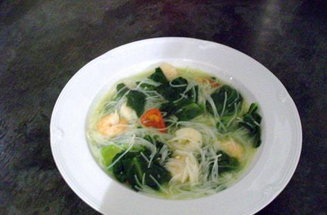 Prawn & Chilli noodle soup