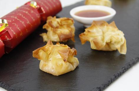 Brie and Mango Chutney Parcels
