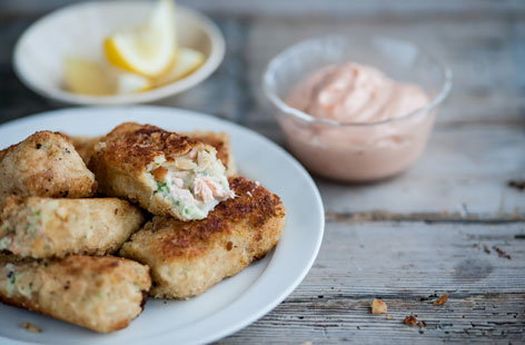 Adam Gray's salmon and smoked haddock fishcakes