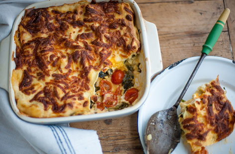 Andy Waters' Ricotta and curly kale lasagne will need some help in the white sauce and layering departments.