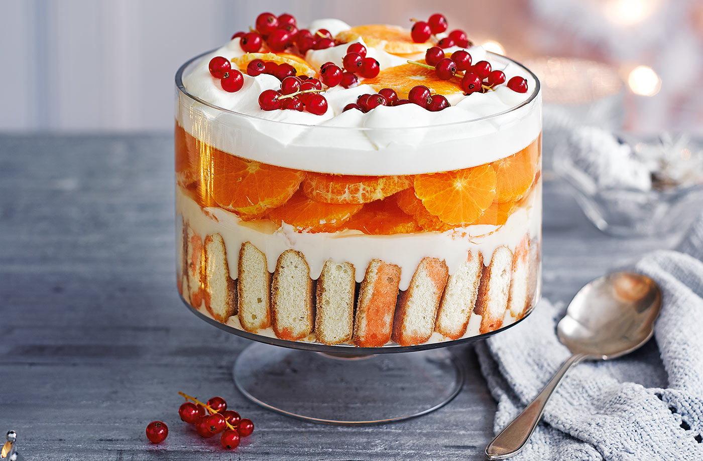 Aperol Spritz Trifle Dessert Recipes Tesco Real Food