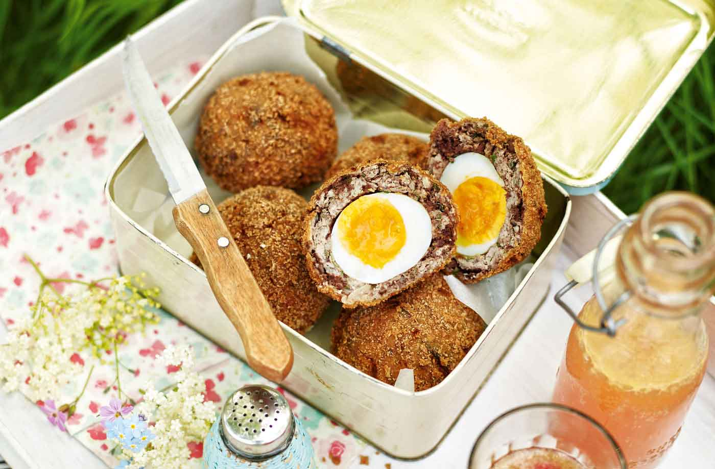 Apple and black pudding scotch eggs recipe