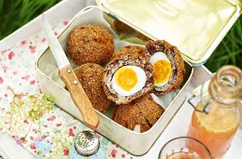 Apple and black pudding scotch eggs