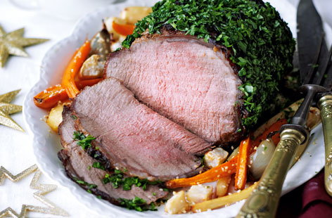 Asian roast beef  with sesame root veg HERO
