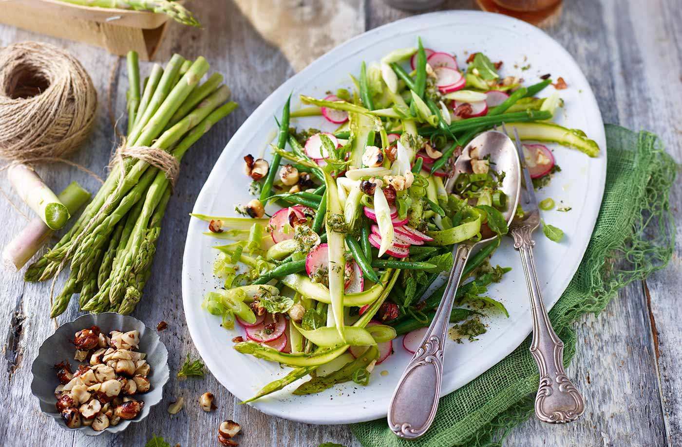 Asparagus And Radish Salad Recipe Asparagus Recipes Tesco Real Food