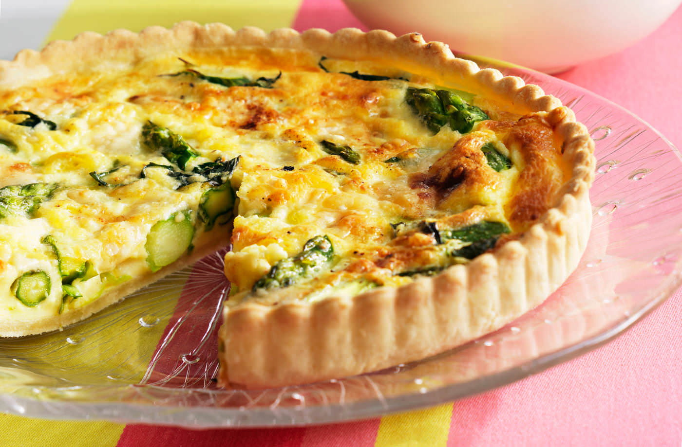 Green asparagus quiche tesco real food green asparagus quiche recipe forumfinder Images