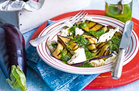 The combination of this nutty, fragrant pesto with seasonal freshness of the aubergine makes this a 'can't miss' dish
