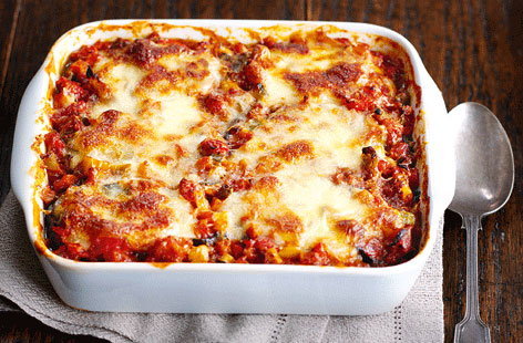 This aubergine parmigiana recipe makes a great meat-free alternative to lasagne.