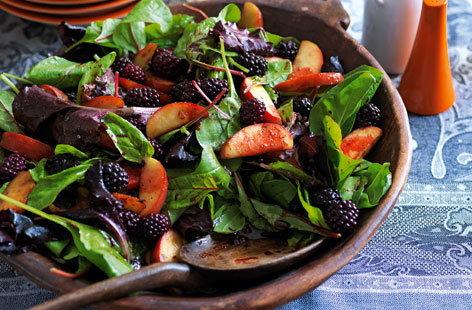 Try this sweeter salad packed with juicy blackberries, crisp apples and baby leaves