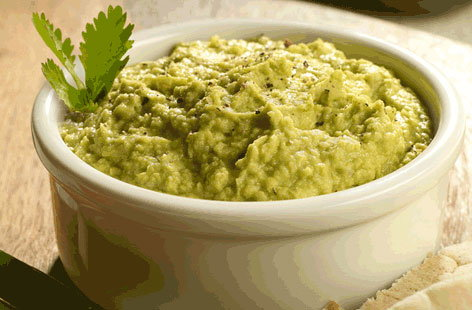 Avocado houmous recipe