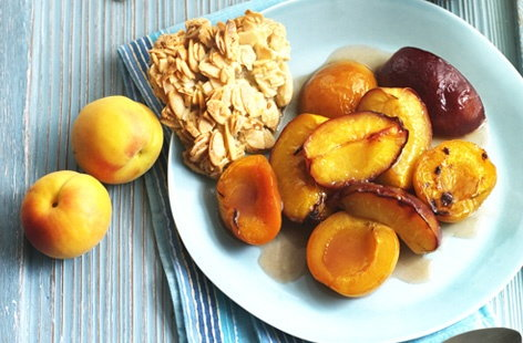 BAKED NECTARINES AND APRICOTS   HERO
