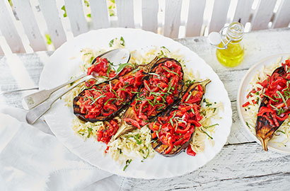 Healthy dishes, perfect for a summer barbecue feast