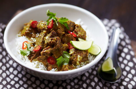 This Malaysian beef curry needs to be simmered for two hours, but it's well worth the wait, as leaving it on a gentle heat results in fall-apart tender beef. The homemade spice mix packs a real flavour punch, too.