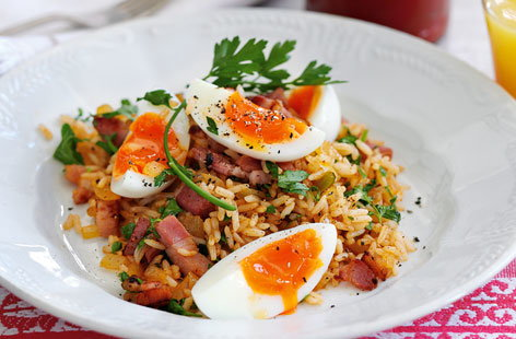 Bacon and eggs  kedgeree style THUMB