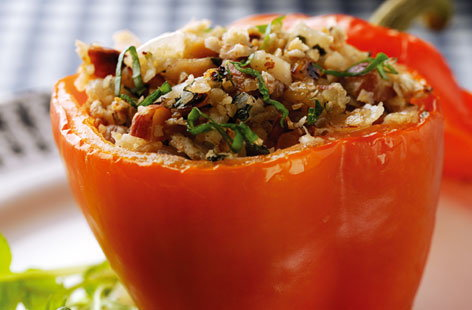 Baked Peppers with Oaty Nut Stuffing THUMB